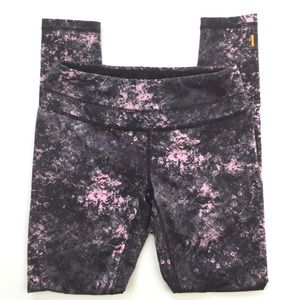 Lucy hatha yoga leggings gray and pink size M